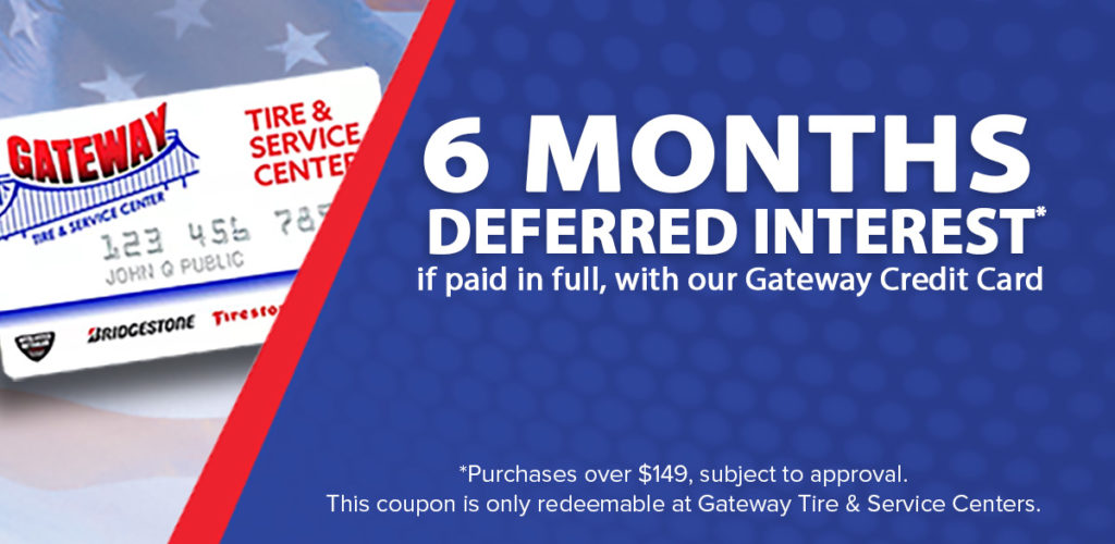 gateway tire coupons